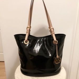 Michael Kors Patent Leather Tote Bag